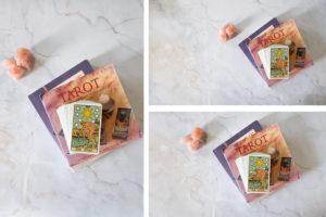 Tarot books and Rider Waite tarot deck photo pack